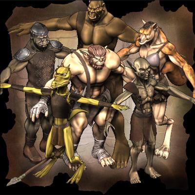 3d fantasy creatures ogre model