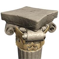 3d pillar rendering