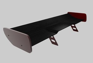 3d rear spoiler model