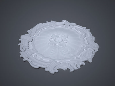 decorative rossette 3d model