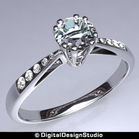 3d model of ring diamond 147