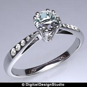 3d model of ring diamond 147