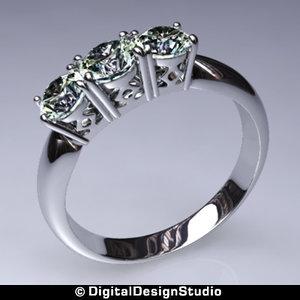 ring diamond 167 obj