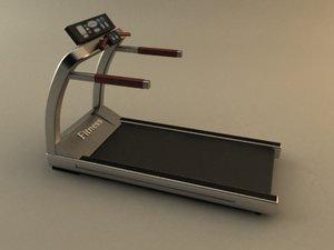 3d model treadmill scene