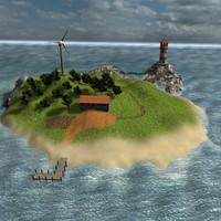 3dsmax island house lighthouse