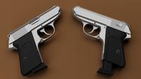 3d model walther gun