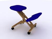 ergonomic chair obj