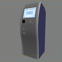 3d model self service kiosk