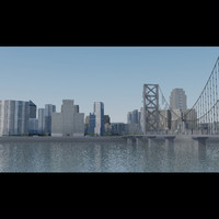 realistic city modern 3d model