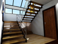 3d max wooden stair case