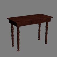 table renderings 3d model