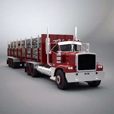 truck timber 3d max