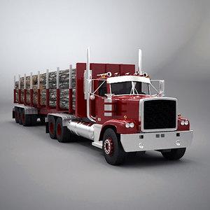 truck timber 3d max