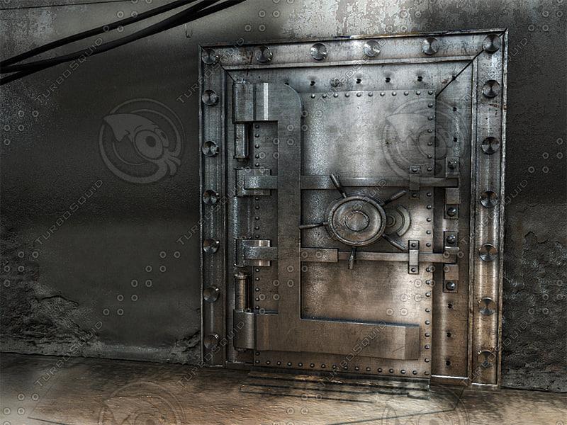 3ds max vault door