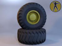 3ds max truck wheel