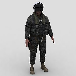 3d army helicopter pilot model