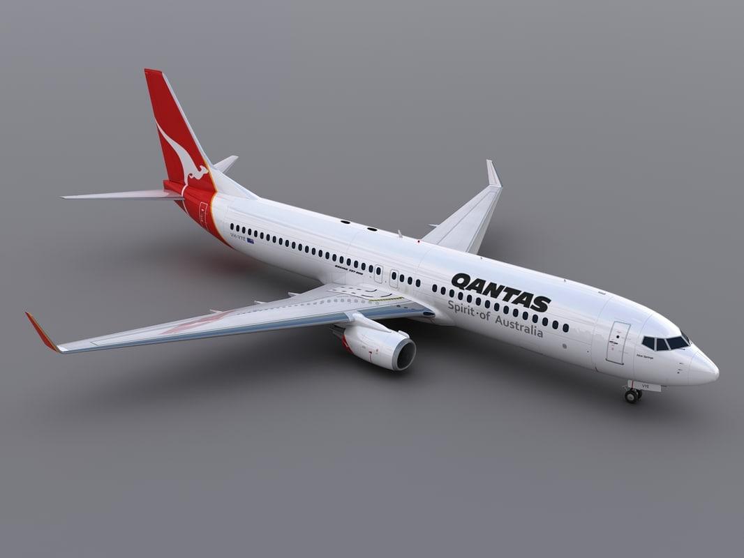 3d aircraft qantas model