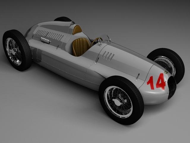 auto union type d 3d model