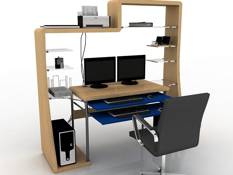 computer trolly 3d max
