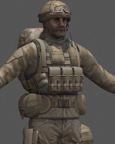 british soldier 3d max