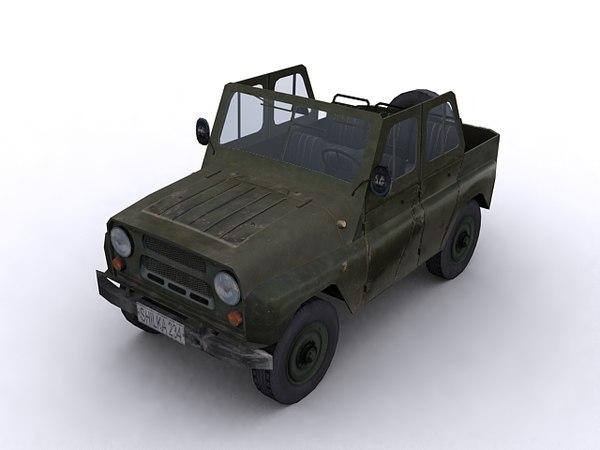 3dsmax uaz 469 military jeep