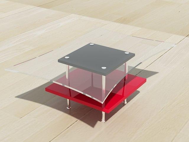 modern coffee table 3d max