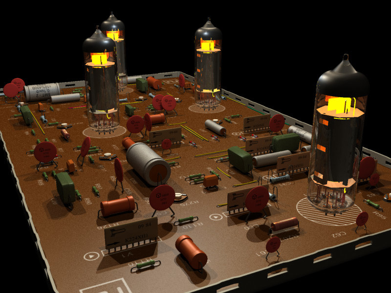 3ds max old electronic scheme