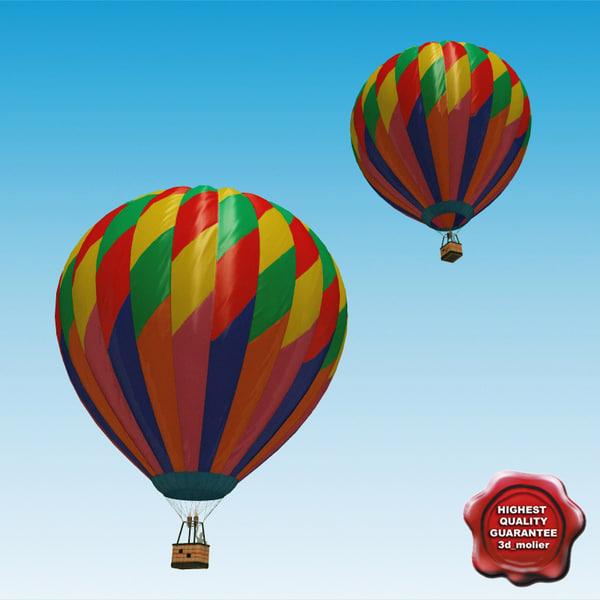 realistic air balloon 3d max
