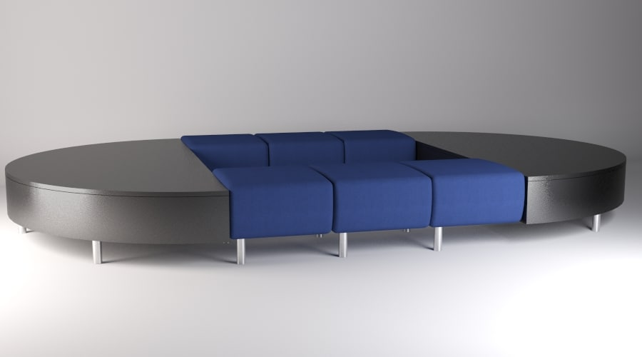 3ds max avesa modular seating