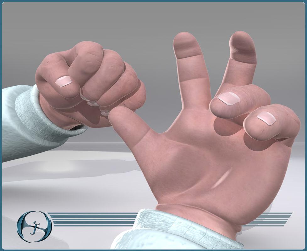 3ds baby hand