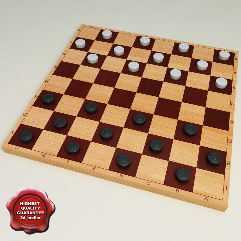 3dsmax checkers modelled