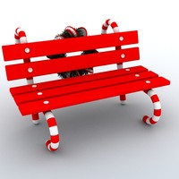3dsmax holiday bench christmas