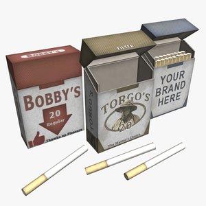3ds cigarette packs smokes