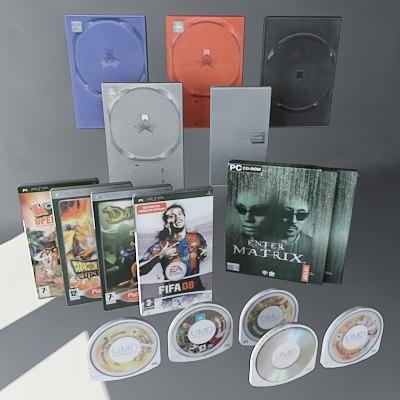 dvd discs movies 3d model