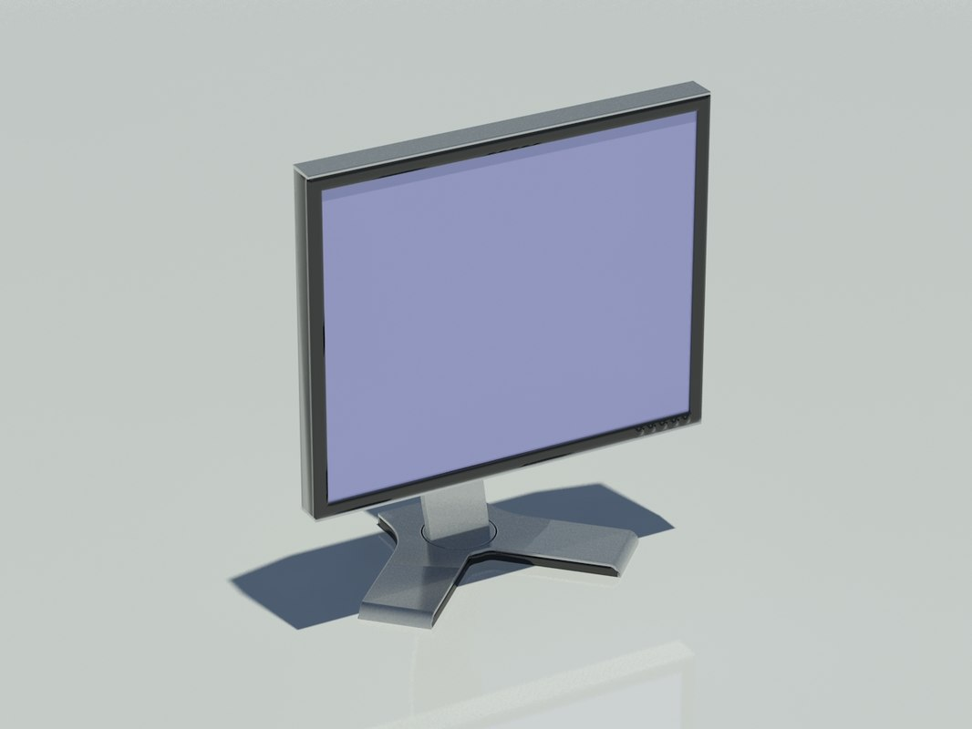 dell monitor 19 inch 3d dwg
