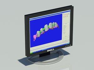 dell monitor 19 inch 3d model