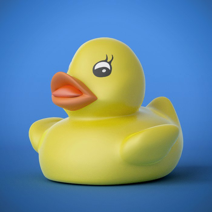3d model yellow rubber duck