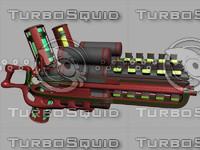 3d model of heavy plasma gun