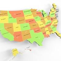 usa states capitals 3d max