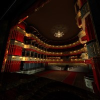 theater moscow 3d c4d