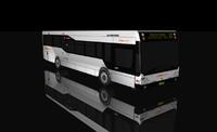 bus shuttle 3d model