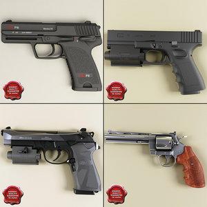 3d pistols details beretta