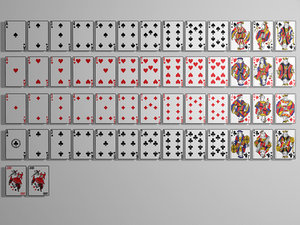 3d playing cards model