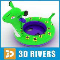 3d kids rubber ring model