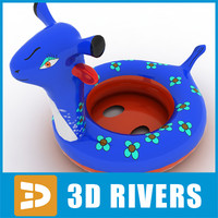 Rubber ring blue by 3DRivers