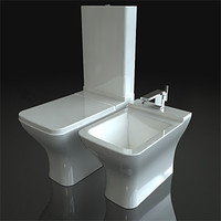 3dsmax toilets duravit puravida
