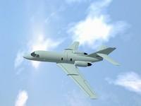 dassault falcon 200 3d model