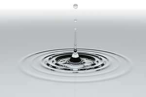 3d waterdrop water drop model