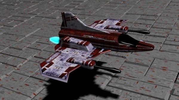sci-fi ship 3d 3ds