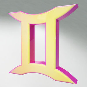 gemini zodiac sign 3d model